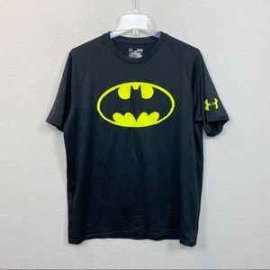 Under Armour Heat Gear Black Batman Tee Medium